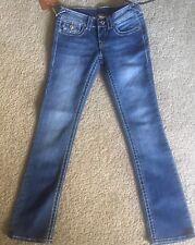 True Religion Joey Super T Thick Metallic Stitch Women's Size 26/32 Brand New