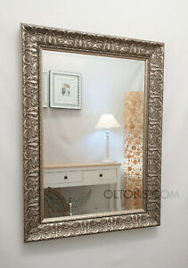John Lewis Constantina Ornate Wall Mirror Gilt French Champagne Silver 107x77cm