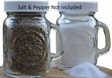Golden Harvest ~ Ball Mason Jar Glass Salt & Pepper Shakers (Clear Set of 2)