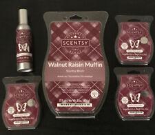 Scent of The Month Scentsy Brick & Room Spray Walnut Raisin Muffin & 3 Wax Bars