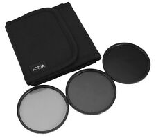 62mm Neutral Density ND2 ND4 ND8 Filter Set + 3 Pockets Filter Wallet Case