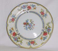 Noritake Mayflower 76582 Pink & Blue Flowers Blue Border Dinner Plate Set Lot 4
