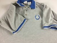 Indianapolis Colts Polo Shirt Mens XL Short NFL Football Heavy Cotton Poly Blend