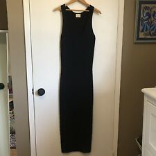 Torn by Ronny Kobo Dress Small Maxi Bodycon Scoop Neck Sleeveless Black Stretch