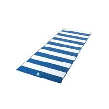 Reebok BIADESIVO 4 mm Tappetino Yoga Esercizio Palestra Allenamento Fitness-Strisce Blu