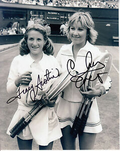 Chris Evert Tracy Austin #0  8x10 Signed w/ COA Tennis-Womens 032419