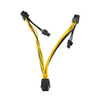 (6-pin/8-pin) Power Splitter Cable PCIE PCI Express PCI-E 6-pin To 2x 6+2-pin