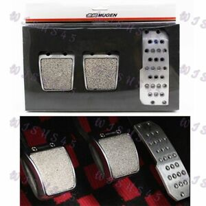 Racing Pedals Foot Rest Accelerator Brake Pedal Clutch Pedals for Honda Mugen