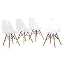 4er chaises design tendance rétro eiffel bois chaise de salle à manger Transpare