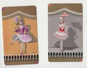 Q383  Vintage swap cards Barribal Ladies with   parasols narrow cards