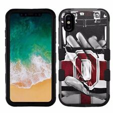 for Apple iPhone X (Ten) Armor Impact Hybrid Cover Case Ohio State Buckeyes #G