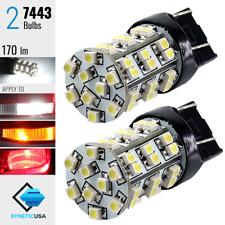 2x 7443/992A LED Bulbs 6000K White Lights for Reverse Backup/ Turn Signal/ Brake