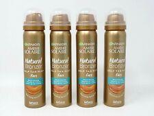 4 x Garnier Ambre Solaire Natural Bronzer Self Tan Mist Face 75ml Intense