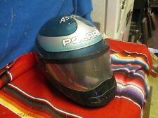 Vtg Bell Polaris Snowmobile Helmet 80S 90S Size 7 Fullface Shield Flags Blue
