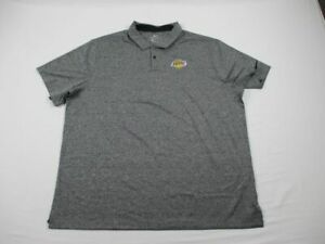 Los Angeles Lakers Nike Polo Shirt Men's Gray Dri-Fit New 2X Large