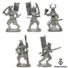 Tin Toy SOLDIERS Set JAPANESE Samurai WARRIORS Medieval JAPAN Metal Tin Figures