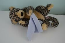 Douglas Cuddle Toys Leopard w/ Blue Blanket Plush Stuffed Animal Wild Cat Lovey
