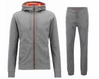 Sale Hugo Boss Green Saggy Hadiko 50399379 Hooded Mens Tracksuit Grey JogSuit