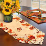 Embroidered Maple Leaves Table Runner Fall Thanksgiving Table Runner Home Decor