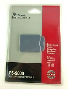 Texas Instruments PS-9000 Back Up Memory Module For TimeRunner New Sealed