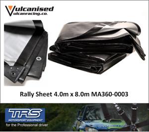 TRS 4 x 8m Heavy Duty Rally Race Car Pit Service Floor Polyethylene Ground Sheet