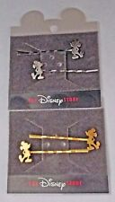 2 PAIR JAPAN DISNEY STORE MICKEY MOUSE HAIR PINS 1 PAIR SILVER 1 PAIR GOLD