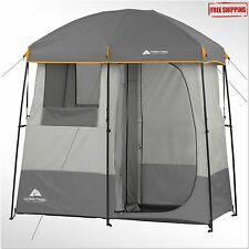 Camping Shower Tent 2 Room Portable Toliet General Use Camp Solar Heated Shower