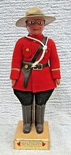 RCMP Royal Canadian Mounted Police Plastic Wool Felt Uniform Wood Stand FREE S/H