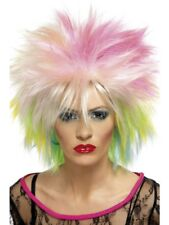 Multi-Coloured 80's Attitude Wig Adult Womens Smiffys Fancy Dress Costume