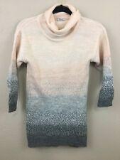 Girls Mayoral Sweater Dress Pink Wool Alpaca Acrylic Glitter Turtleneck Size 10