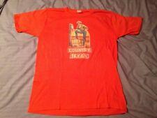 Vintage Iron On T Shirt Men's XL Country Texan Orange