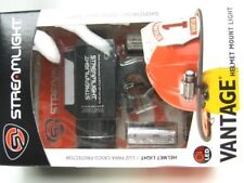STREAMLIGHT Black VANTAGE Helmet Mounted LED Flashlight Light 115 Lumens! 69140