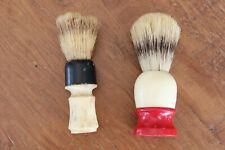 2 Vintage Shaving Cream Brushes Ever-Ready C40 Shave Brush USA Pushee Rubber