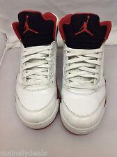 Nike Air Jordan 5 V Retro Fire Red 5 Red Black Tongue Size 10.5 136027-120