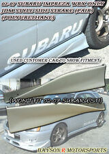 Side Skirts Rear Spats Strakes (PU) Fits 02-07 Impreza WRX