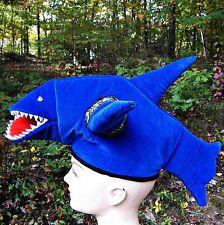 NWOT Blue Great Shark Jaws Hat Cap Costume Halloween Ocean Party Child Teenager