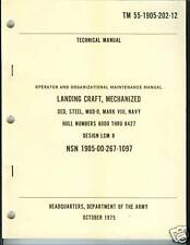 Landing Craft, LCM-8, MOD-0, Operator, Maint Manual