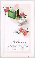 Vintage 1916 Merry Christmas Postcard No. 8120