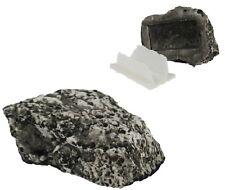 2 Hidden Stone Diversion Safe Hide Fake Rock Outdoor Garden Spare Key Holder