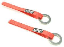 Sideways RC Drift Car Red Nylon Tow Sling W/ Hook - Pair