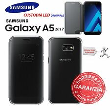 CUSTODIA CLEAR VIEW NERO ORIGINALE SAMSUNG EF-ZA520 per GALAXY A5 2017 SM-A520F