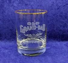 Old Grand-Dad Whiskey Gold Rimmed Rocks Glass Spirit of America Eagle