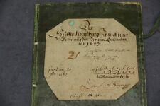 ANTIKER BUCHEINBAND PAPPBAND BUCHDECKEL KOPERT BLOCK MAPPE VON 1683