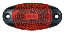 12V 24V OVAL RED REAR LED MARKER POSITION LAMP / LIGHT TRUCK VAN LORRY GRILLE