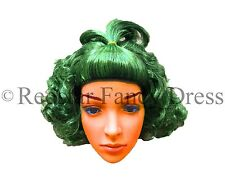 KIDS UMPA LUMPA FACTORY WORKER GREEN WIG CHOCOLATE FANCY DRESS OOMPA CHILDS