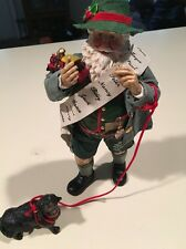 Possible Dreams  Santa with Dog Christmas Figurine