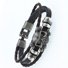 2019 Multilayer Bracelet WOMEN/MEN Casual Fashion Braided Leather Punk Rock 128