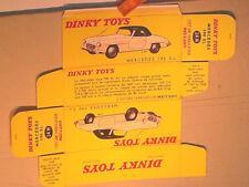 REPLIQUE BOITE MERCEDES 190SL  DINKY TOYS 1958 (2versions)