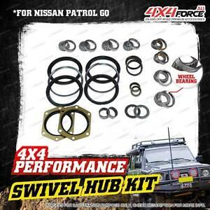Swivel Hub King Pin + Wheel Bearing Seal Kit for Nissan Patrol GQ Y60