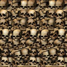 HUGE 30ft CATACOMBS BONES SKULL TOMB SCENE SETTER BACKDROP HALLOWEEN THEME DECOR